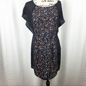 Ella Moss NWT Black and Floral Dress Large NWT